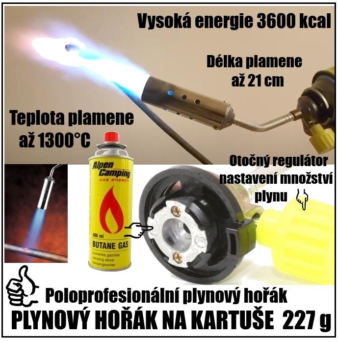 Plynové hořáky poloprofesionální
